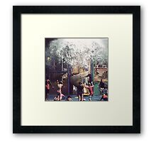 Here it comes! Framed Print