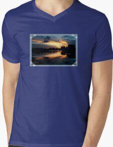 Surreal Perfection ~ Sunset Reflection Mens V-Neck T-Shirt