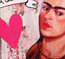 Frida Kahlo Valentine Sticker