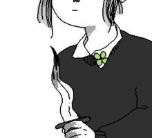 girl with dagger Sticker