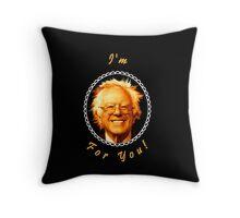 I'm Bernin' For You! (Black / Black) Throw Pillow