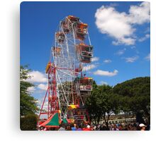 The Fun of the fair at Moonee Valley for Christmas party, Melbourne, Vic, Australia Canvas Print