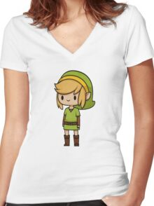 Link design Women's Fitted V-Neck T-Shirt