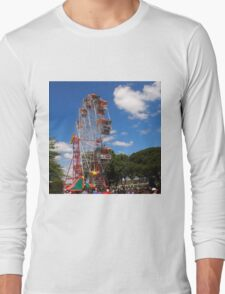 The Fun of the fair at Moonee Valley for Christmas party, Melbourne, Vic, Australia Long Sleeve T-Shirt