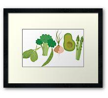 Green Veggies Framed Print