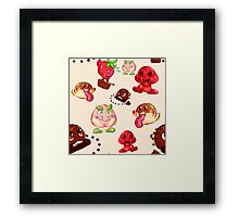 Food Enemy Nintendo Framed Print