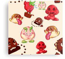 Food Enemy Nintendo Metal Print