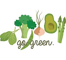 Go Green! - Vegan/Vegetarian  Photographic Print