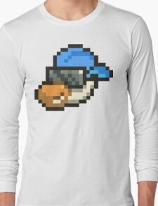 Large Blue Hat Chancy Long Sleeve T-Shirt