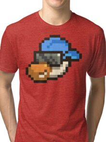 Large Blue Hat Chancy Tri-blend T-Shirt