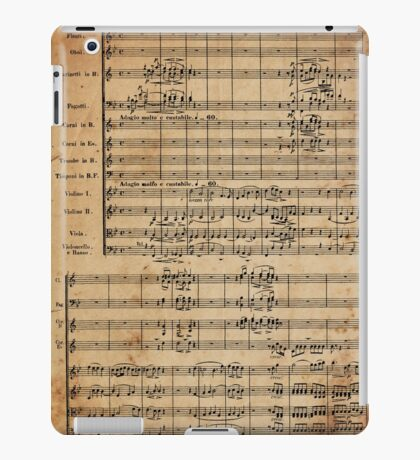 Beethoven's 9th on Antique Paper iPad Case/Skin