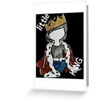 Simplistic Little King Design Greeting Card