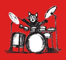 Drummer Cat One Piece - Short Sleeve