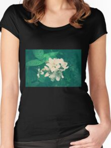 Overlit Flowers Women's Fitted Scoop T-Shirt