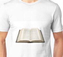 Open bible with the original Hebrew text  Unisex T-Shirt