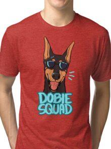 DOBIE SQUAD (black + cropped) Tri-blend T-Shirt