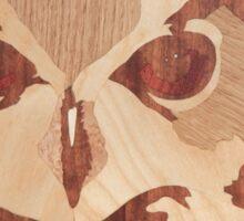 Wooden cute owl picture art Sticker