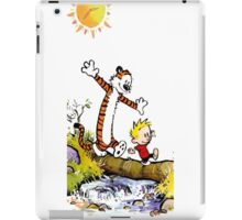calvin and hobbes wait iPad Case/Skin