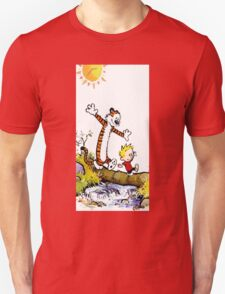 calvin and hobbes wait Unisex T-Shirt
