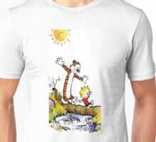calvin and hobbes wait Unisex T-Shirt
