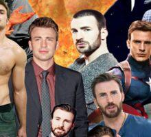 Chris Evans Collage  Sticker
