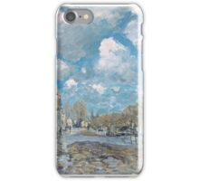 Flood at Port-Marly,  iPhone Case/Skin