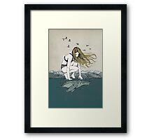 The big and the small one Framed Print