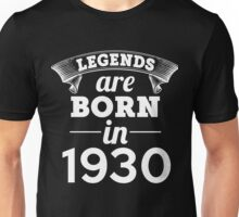 legends are born in 1930 shirt hoodie Unisex T-Shirt