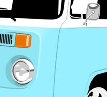 VW Camper Late Bay pale blue and white Sticker