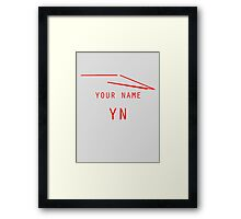 Your Name Framed Print