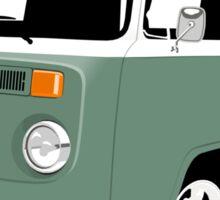 VW Camper Late Bay dark green white Sticker