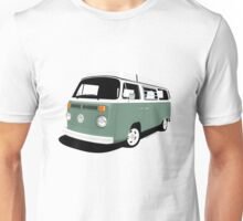 VW Camper Late Bay dark green white Unisex T-Shirt