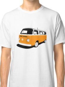 VW Camper Late Bay orange and white Classic T-Shirt