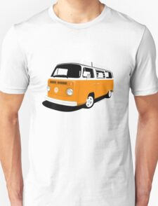 VW Camper Late Bay orange and white Unisex T-Shirt