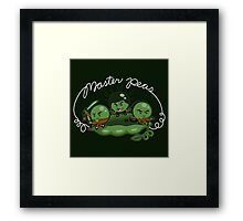 Master Peas Framed Print