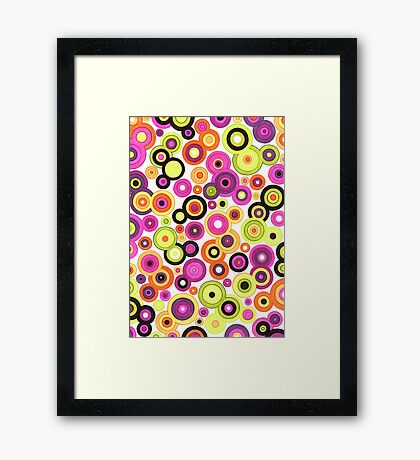 Hand drawn pattern - Circles 1 Framed Print