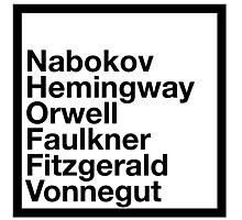 Famous Authors Photographic Print