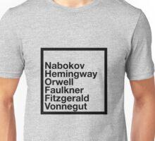 Famous Authors Unisex T-Shirt