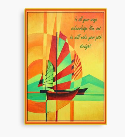 In All Your Ways Acknowledge Him Greeting Card Canvas Print