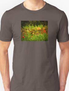 Golden Dahlia Fields Unisex T-Shirt