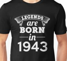 legends are born in 1943 shirt hoodie Unisex T-Shirt