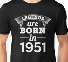 legends are born in 1951 shirt hoodie Unisex T-Shirt