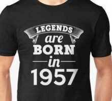 legends are born in 1957 shirt hoodie Unisex T-Shirt