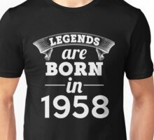 legends are born in 1958 shirt hoodie Unisex T-Shirt