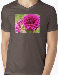 Dahlia Macro Mens V-Neck T-Shirt