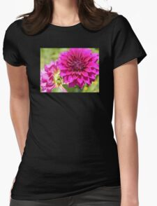 Dahlia Macro Womens Fitted T-Shirt