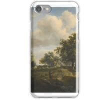 Meindert Hobbema A HAMLET IN A WOODLAND GLADE OF OAKS iPhone Case/Skin
