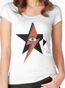 David Bowie : A rock star went to heaven Women's Fitted Scoop T-Shirt