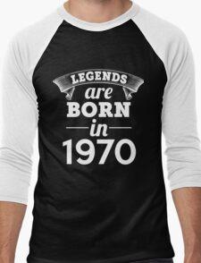 legends are born in 1970 shirt hoodie Men's Baseball ¾ T-Shirt