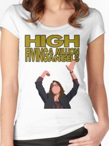 Liz Lemon - High fiving a million angels Women's Fitted Scoop T-Shirt